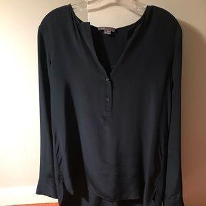 Vince navy blouse 100% silk size 10